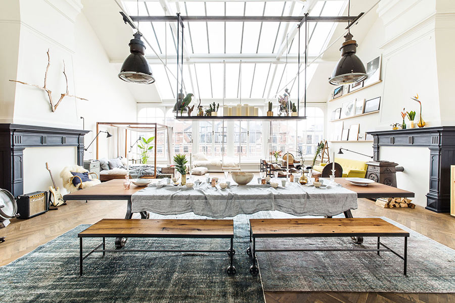 Int rieur pop up store loft vintage industriel for Interieur styling amsterdam
